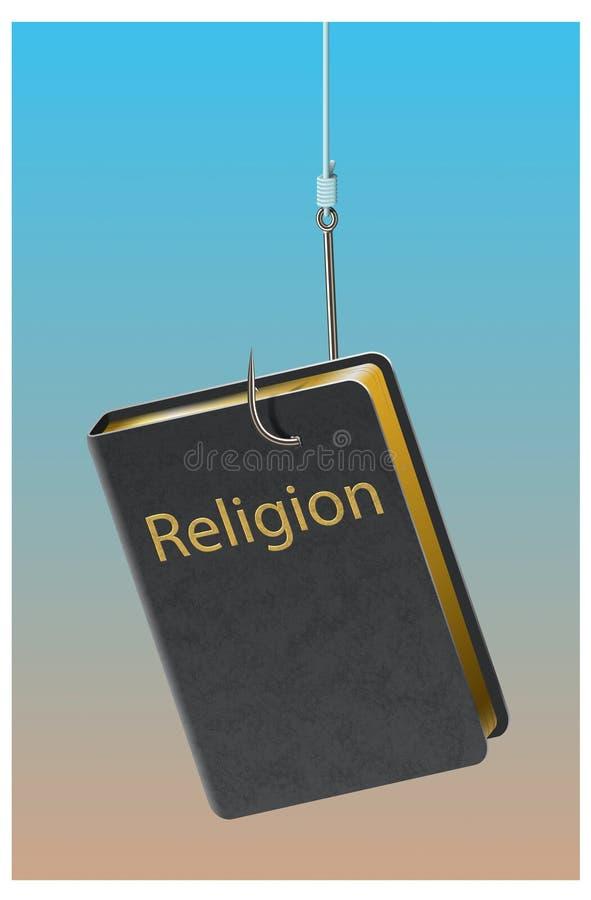 Enganchado na religião ilustração do vetor