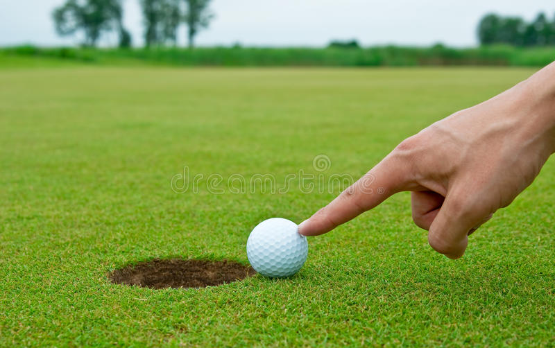Engano do golfe fotografia de stock