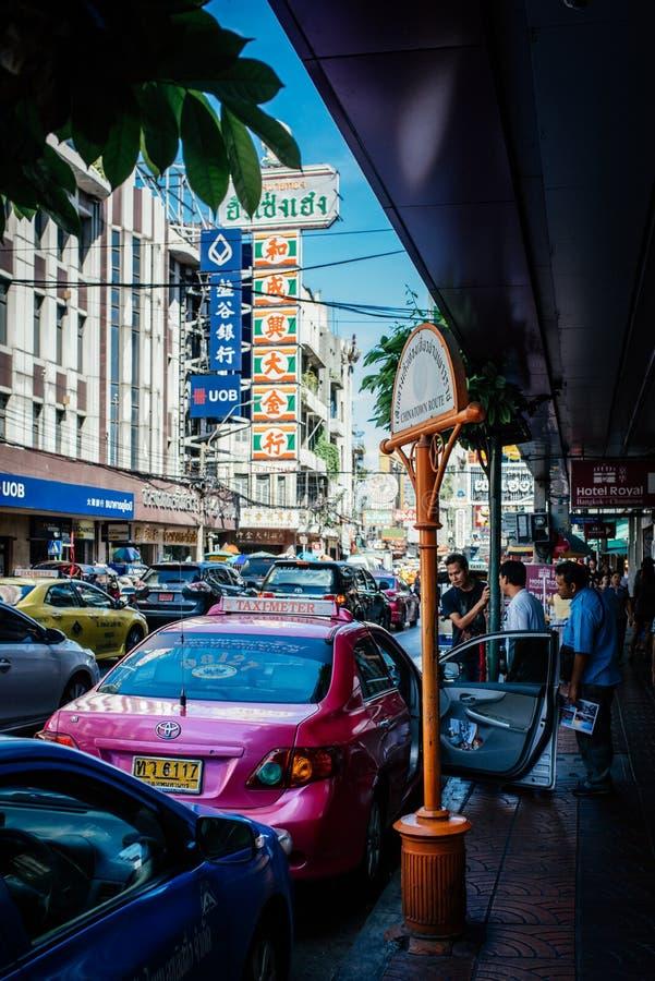 Engarrafamento de Tailândia na cidade de China imagem de stock