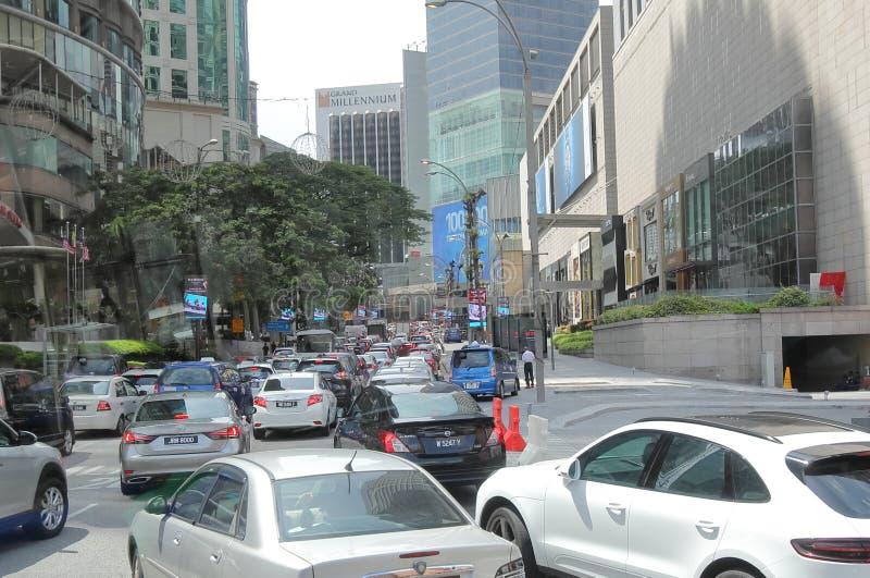 Engarrafamento Kuala Lumpur Malaysia imagem de stock