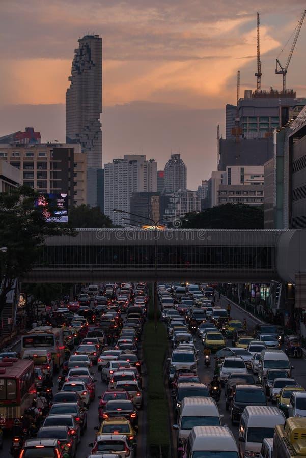 Engarrafamentos em Phaya Rd tailandês fotos de stock royalty free