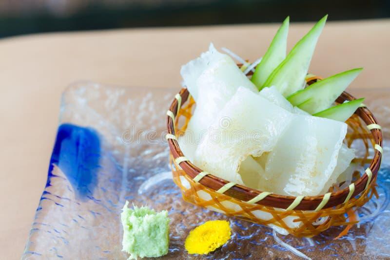 Engawa sashimi fotografering för bildbyråer