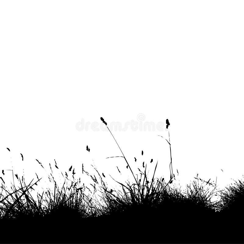 Engazonnez le noir de silhouette illustration stock
