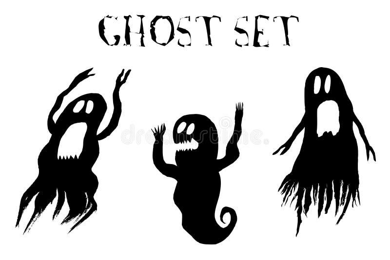 Enge die Spookreeks, op witte achtergrond wordt geïsoleerd vector illustratie
