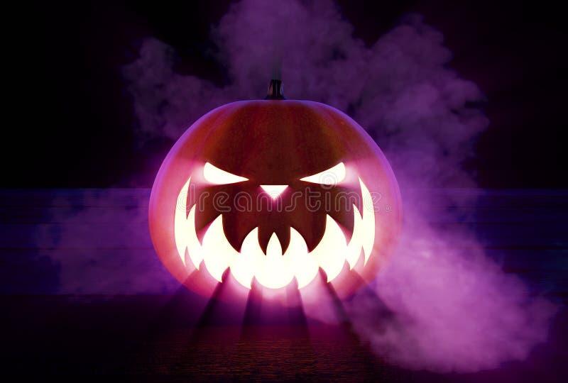 Enge Halloween pompoen stock foto