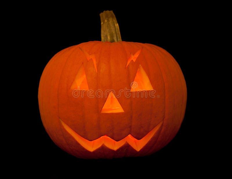 Enge Halloween pompoen met gezicht royalty-vrije stock fotografie