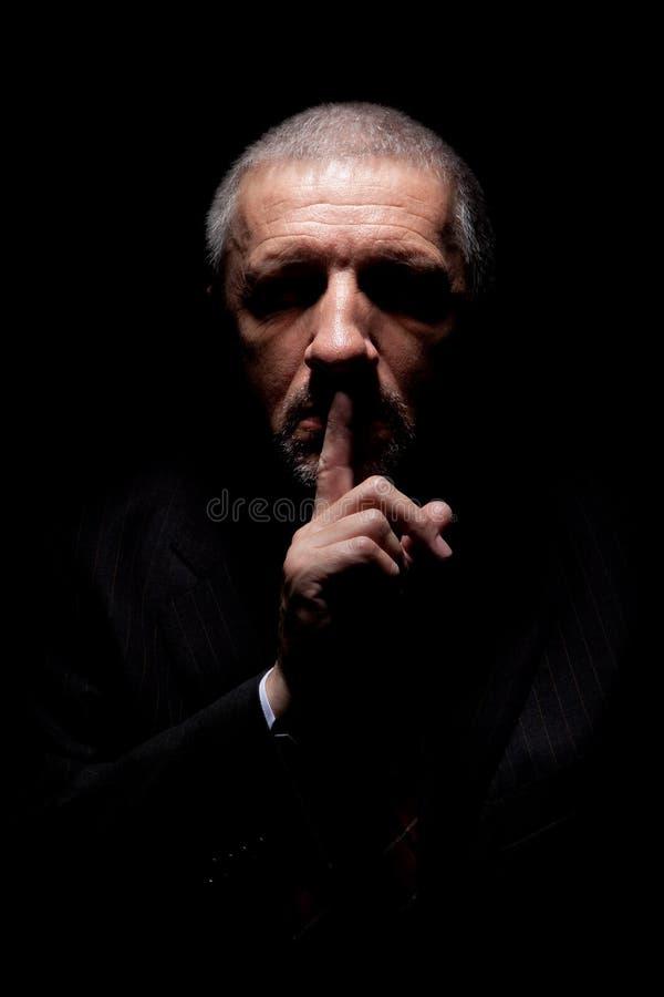 Enge mensen gesturing stilte stock fotografie