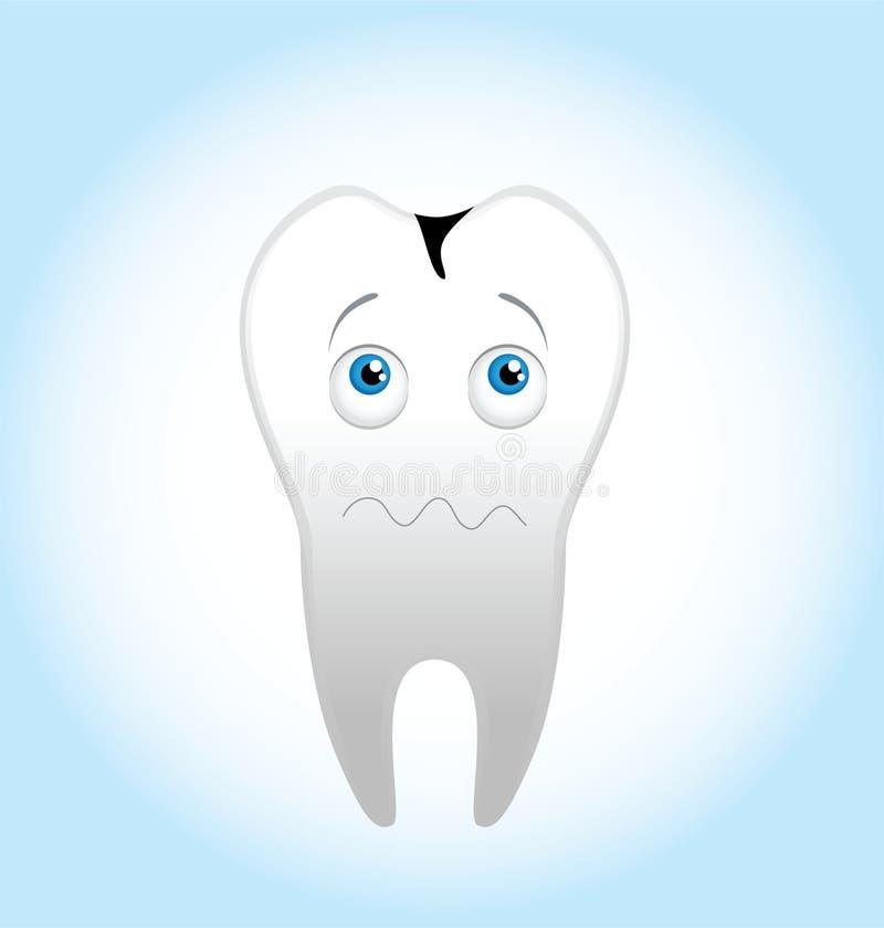 Enge tand vector illustratie