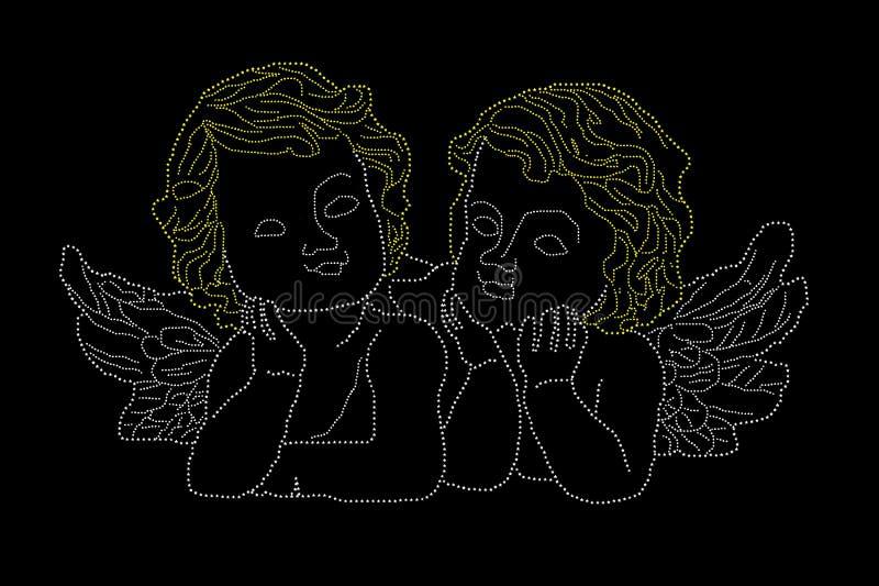 Download Engel stock abbildung. Illustration von paar, reflexion - 27729851