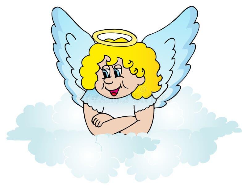 Engel auf Wolke stock abbildung