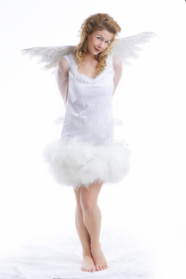 Engel boven de wolken stock afbeelding