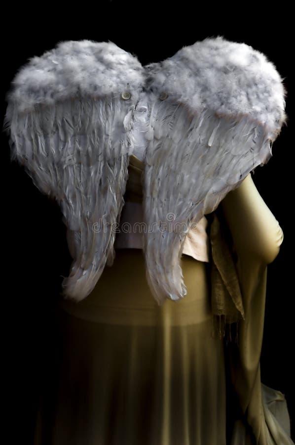 Engel in de schaduw royalty-vrije stock afbeelding
