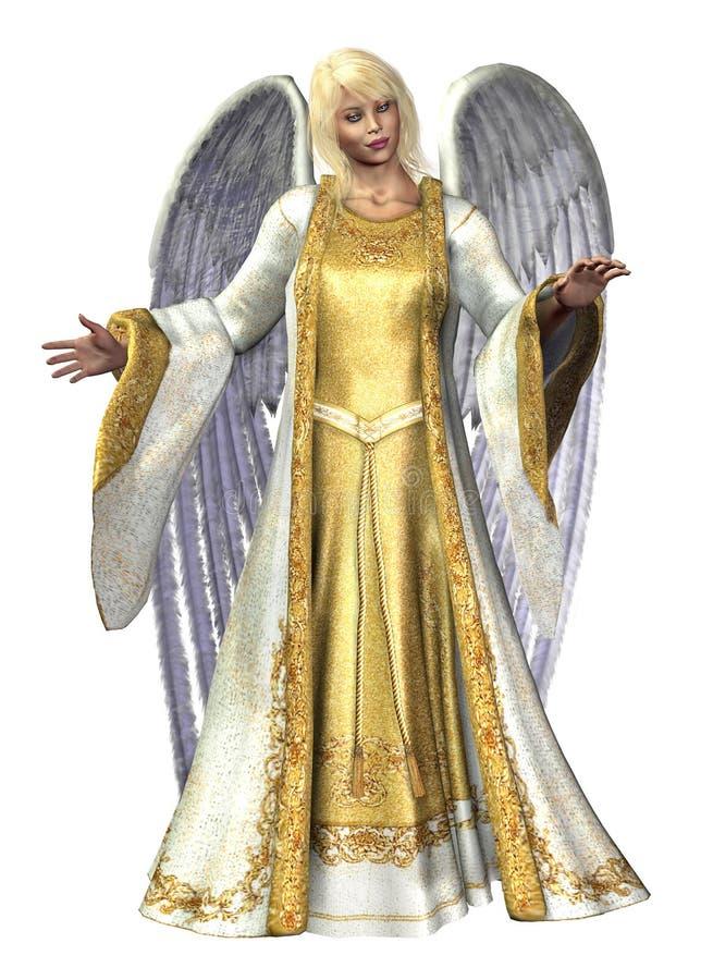 Engel der Leuchte - enthält Ausschnittspfad stock abbildung