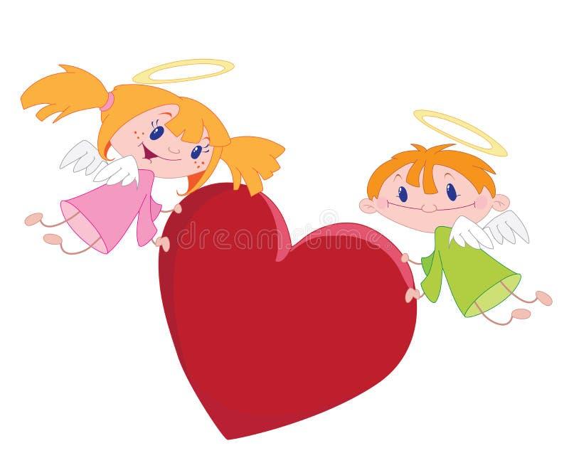 Engel der Liebe vektor abbildung