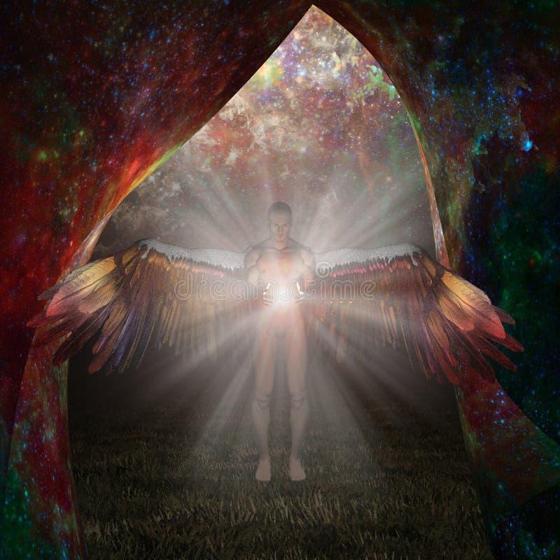 Engel des Lichtes lizenzfreie abbildung