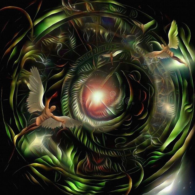 Engel des Lichtes vektor abbildung
