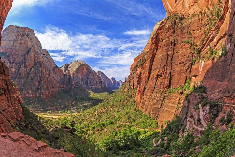 Engel, die Spur, Zion National Park, Utah landen lizenzfreie stockfotografie