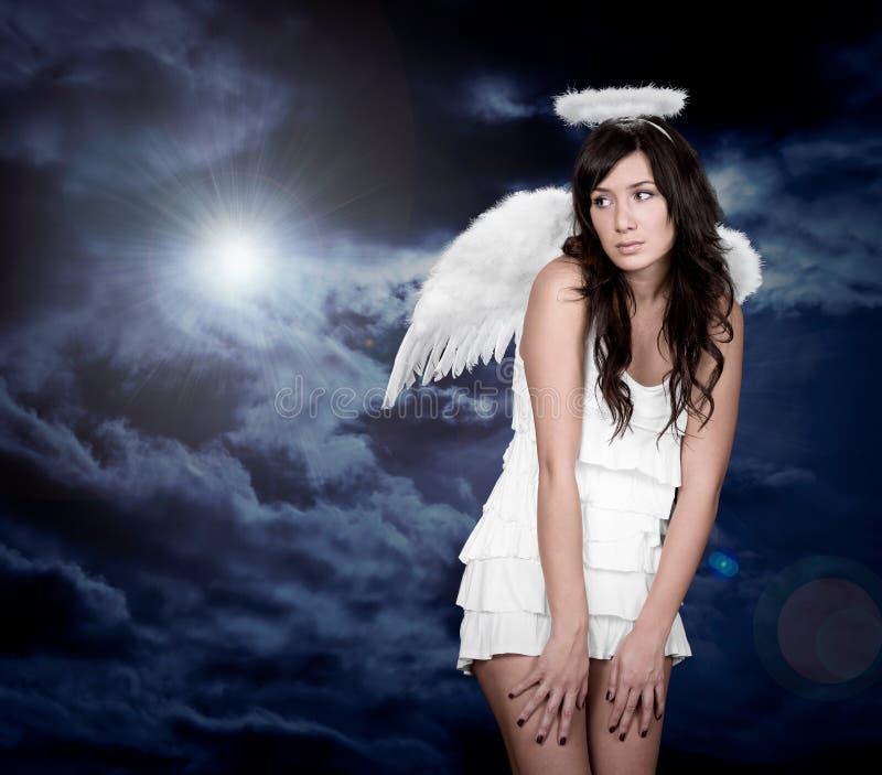 Engel en licht van god stock fotografie