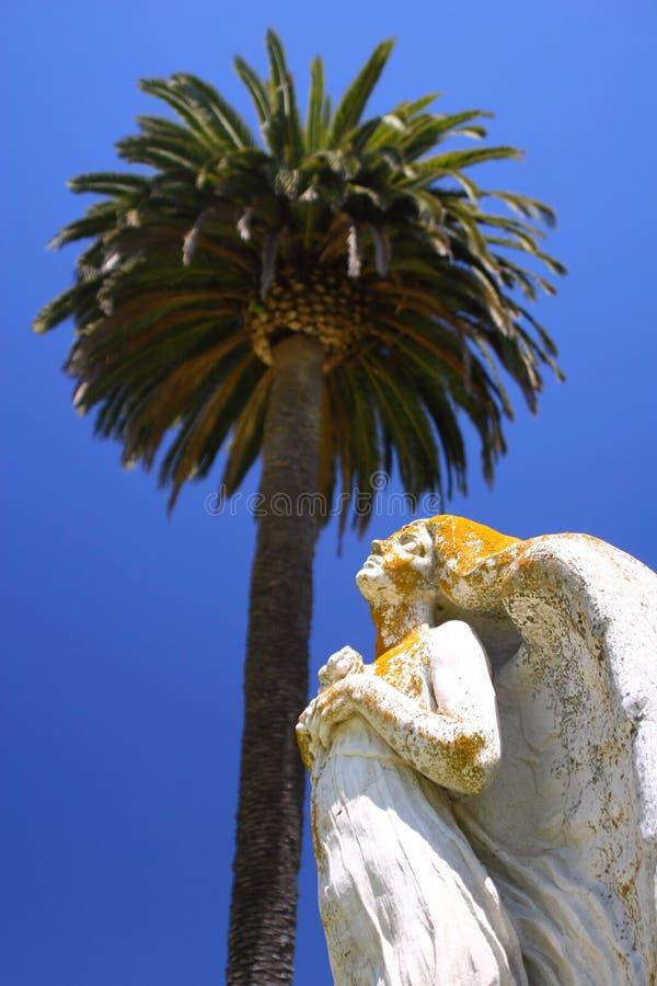 Engel En Palm Royalty-vrije Stock Afbeelding