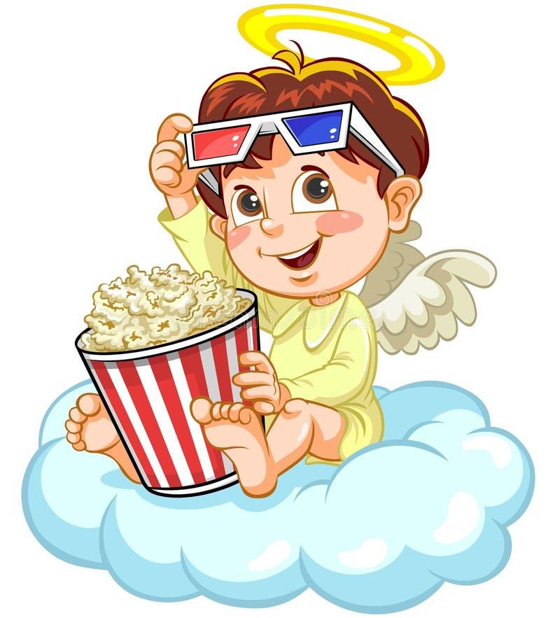 Engel het letten op film stock illustratie