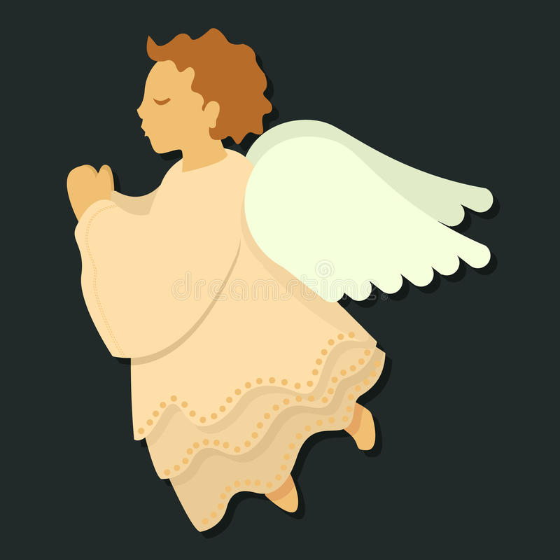 Engel im Gebet stock abbildung