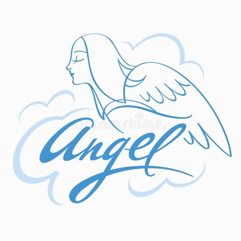 Engel im Himmel lizenzfreie abbildung