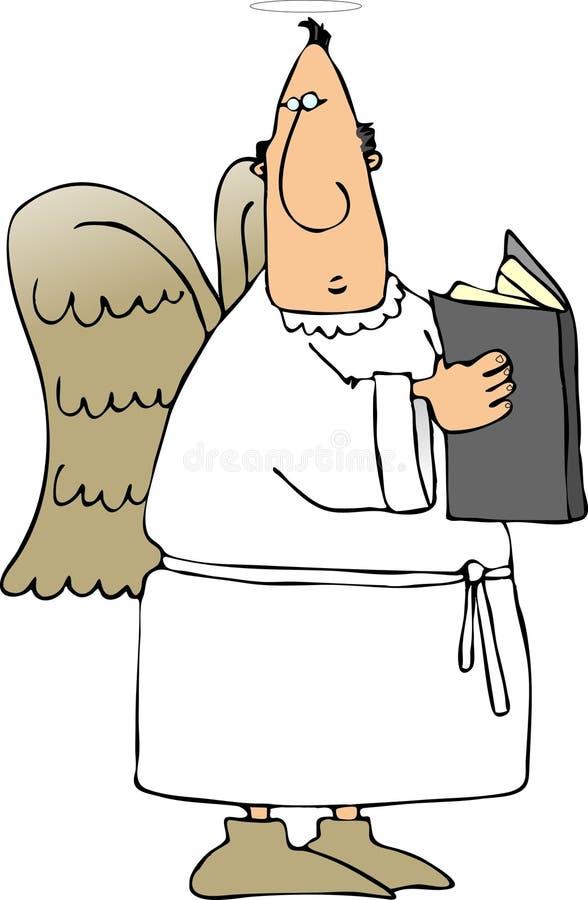 Engel met een boek vector illustratie