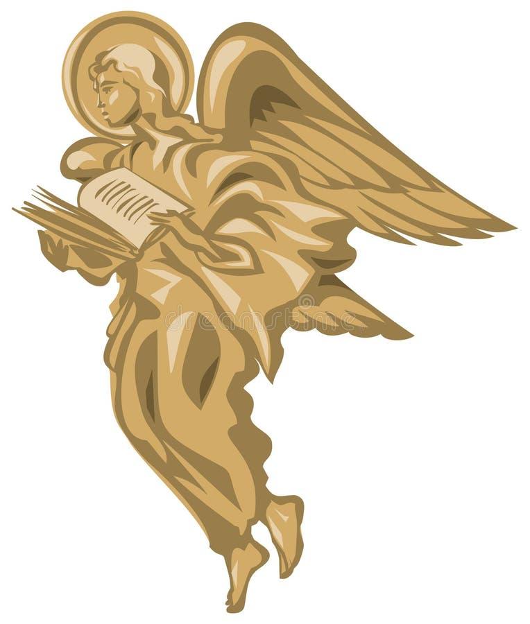 Engel met het boek royalty-vrije illustratie