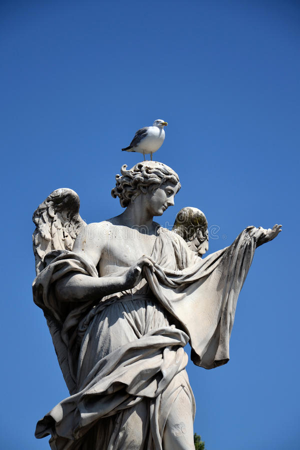 Engel met Sudarium royalty-vrije stock foto