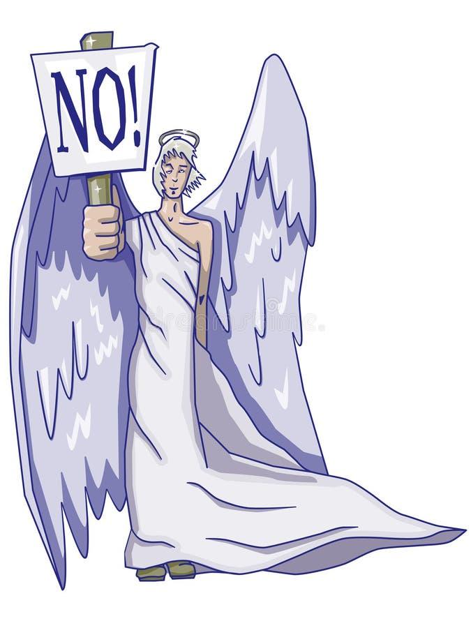Engel met teken vector illustratie