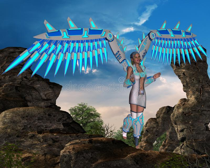 Engel met vleugels vector illustratie
