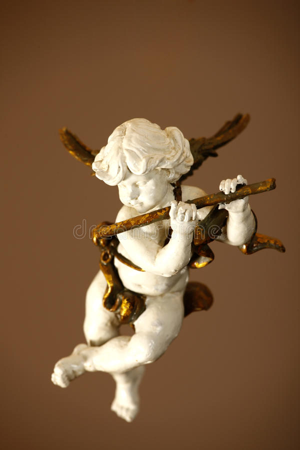 Engel mit Flöte stockfotografie