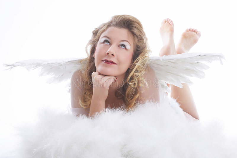 Engel mit Flügeln lizenzfreie stockbilder