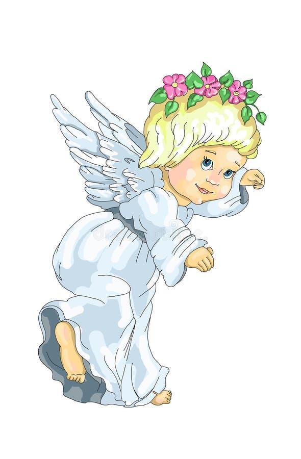 engel status royalty-vrije illustratie