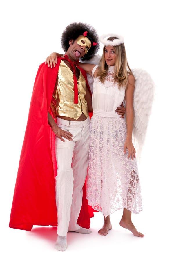 Engel und Teufel stockfoto