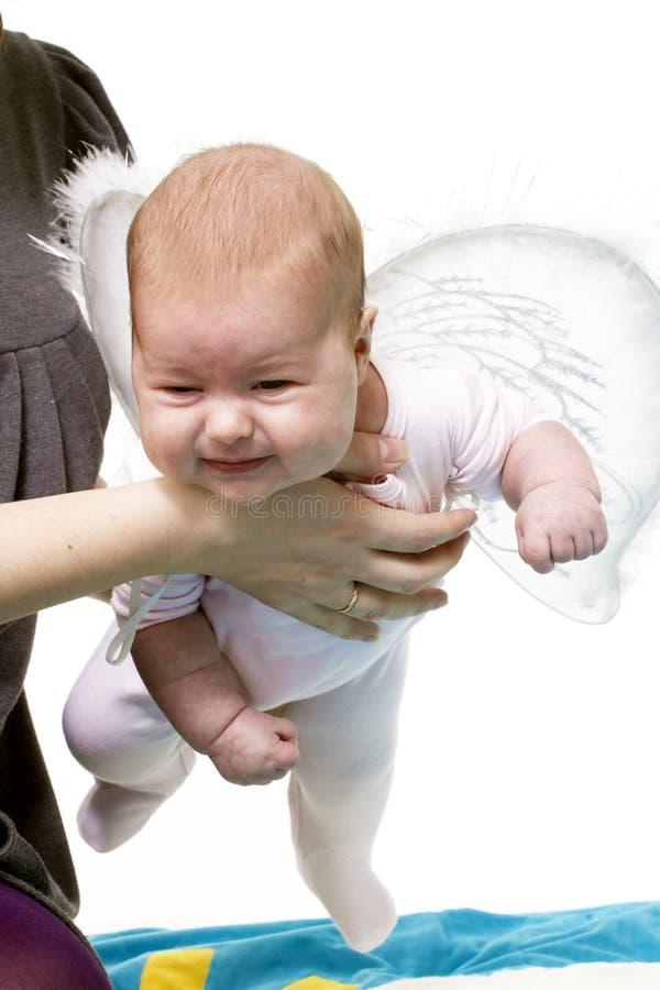 Engel unterrichtet, um zu fliegen lizenzfreie stockfotografie
