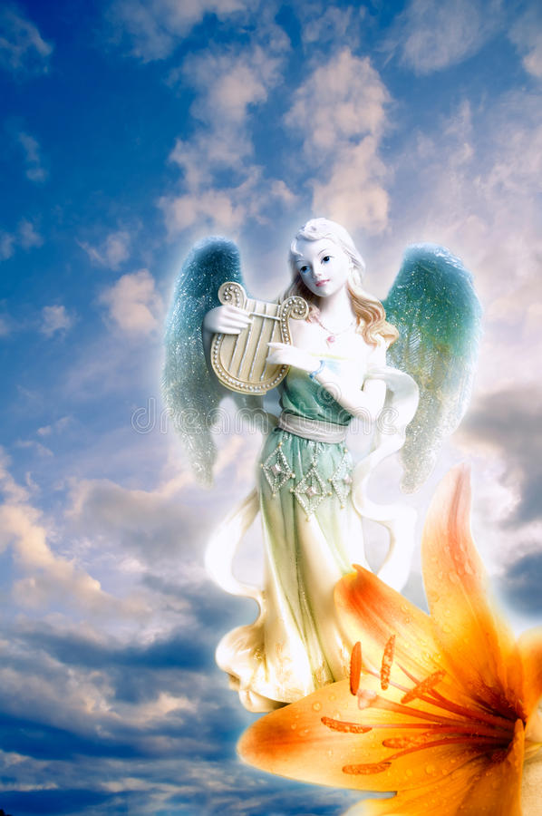 Engel van art. stock fotografie