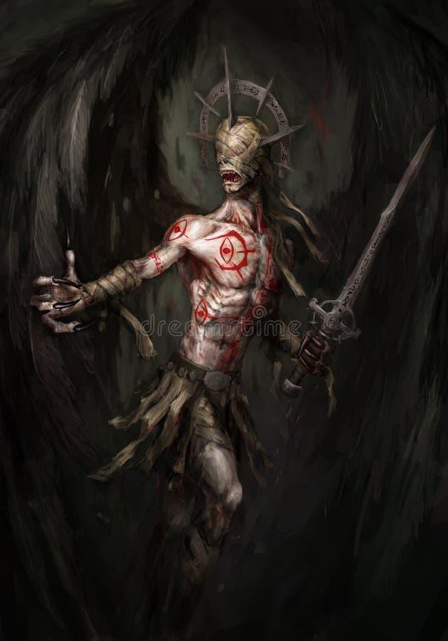 Engel van dood royalty-vrije illustratie