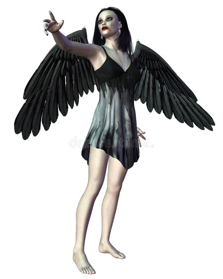 Engel van Dood die - richt vector illustratie