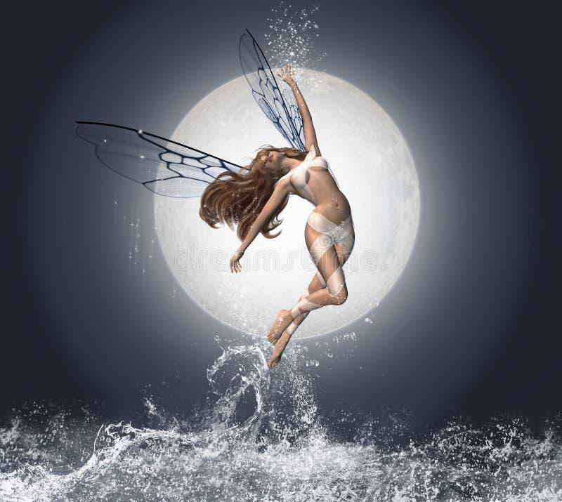 Engel van het water stock illustratie