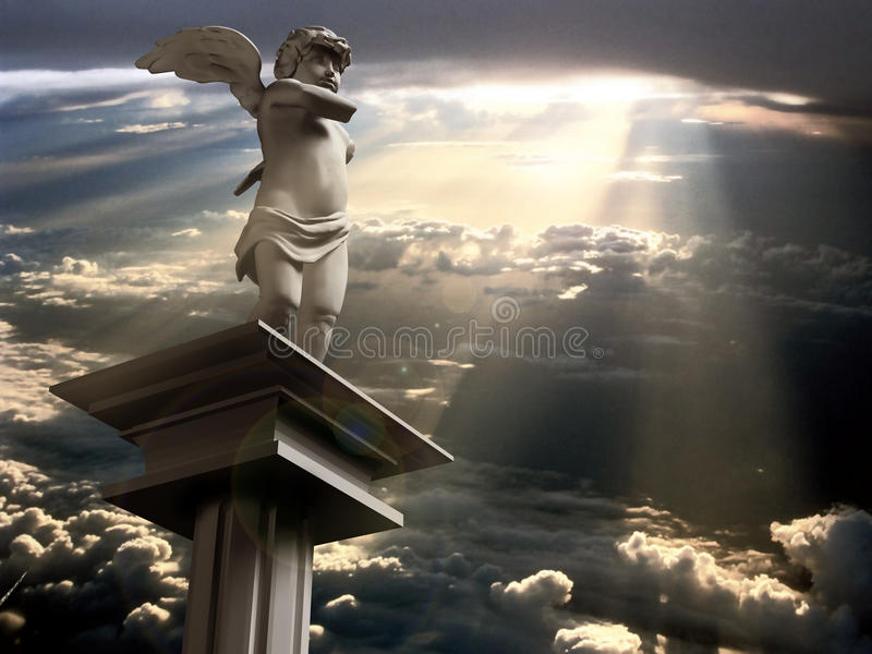 Engel van liefde vector illustratie