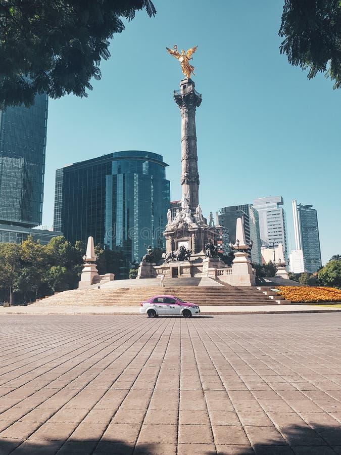 Engel van Onafhankelijkheid, Mexico-City, Mexico stock fotografie