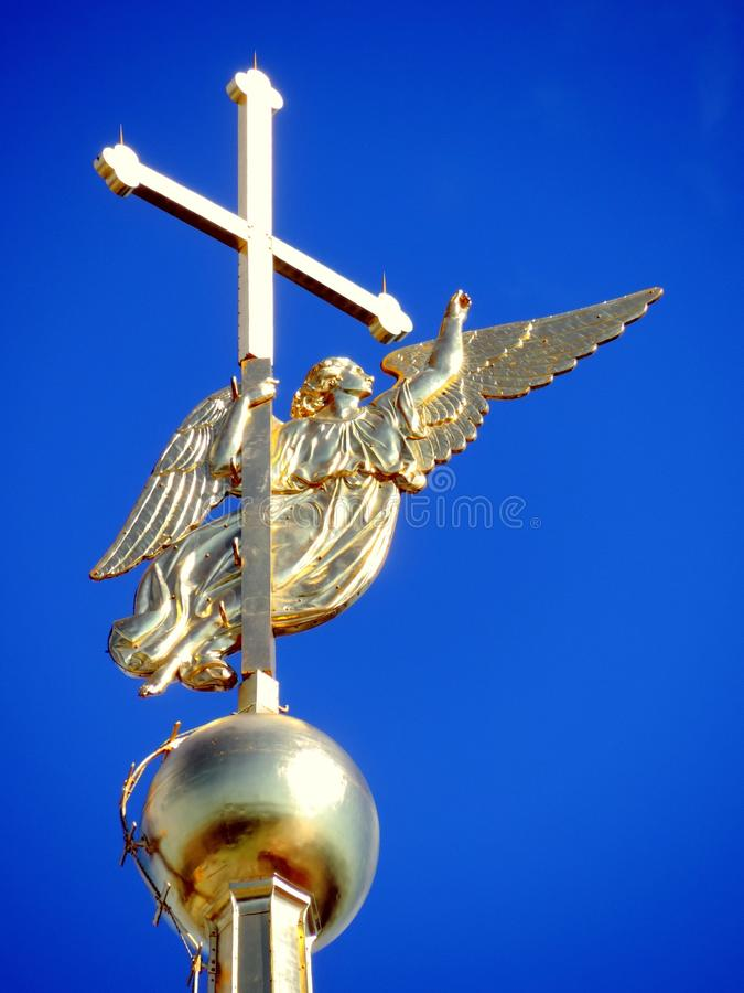 Engel van Peter en Paul Cathedral in heilige-Petersburg stock afbeeldingen