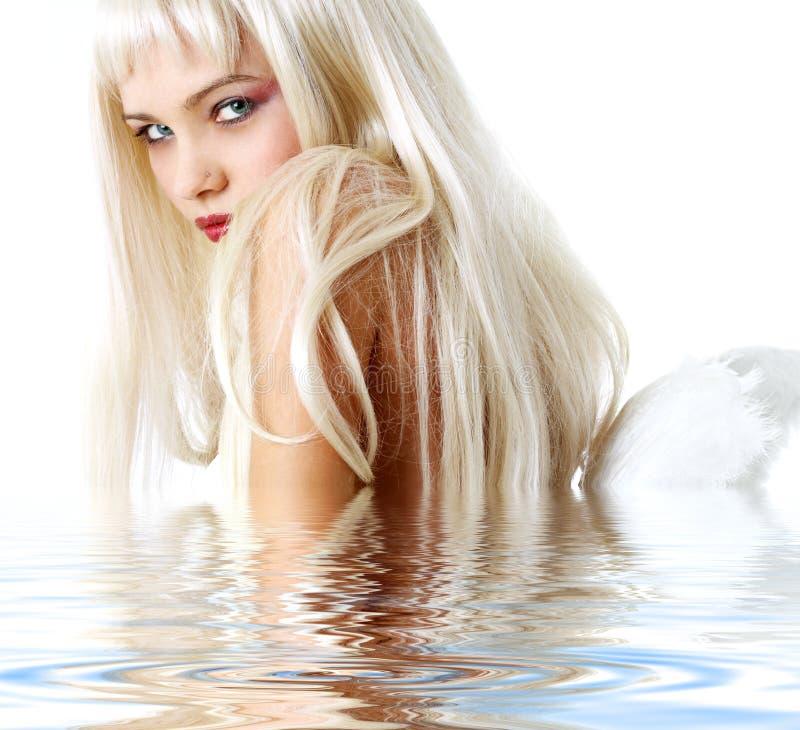 Engel in water royalty-vrije stock foto's