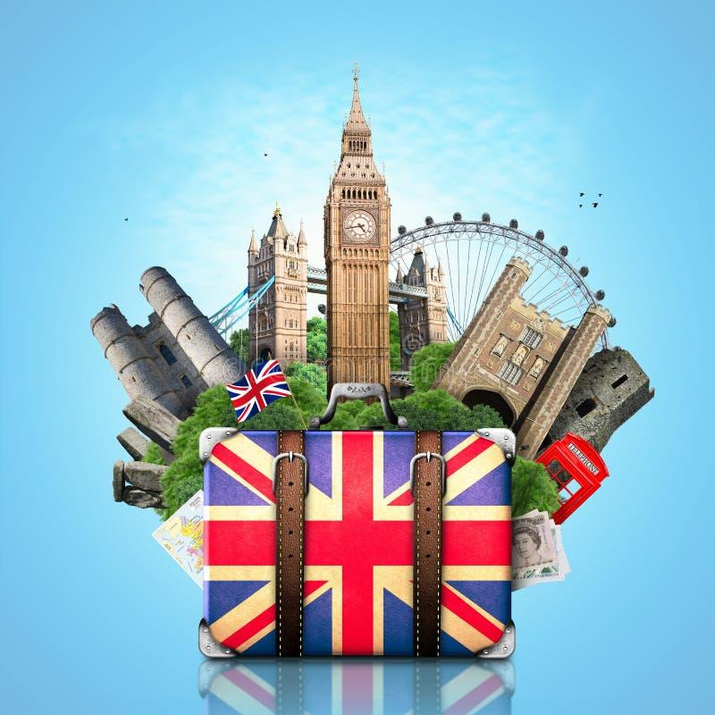 Engeland, Britse oriëntatiepunten royalty-vrije stock foto