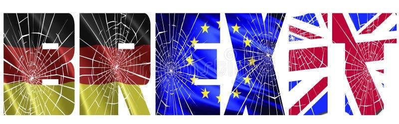 Engeland en Duitsland bij oorlog over Brexit stock illustratie