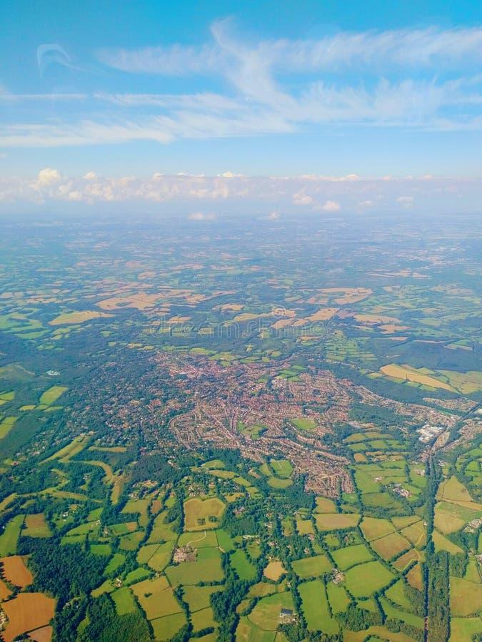 Engeland - Mening van hierboven royalty-vrije stock afbeeldingen