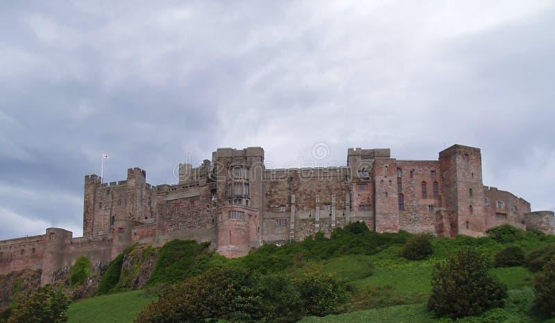 Engeland, Northumberland, Bamburgh-Kasteel, Norman Architecture, dichtbij Schotse grenzen, royalty-vrije stock foto's