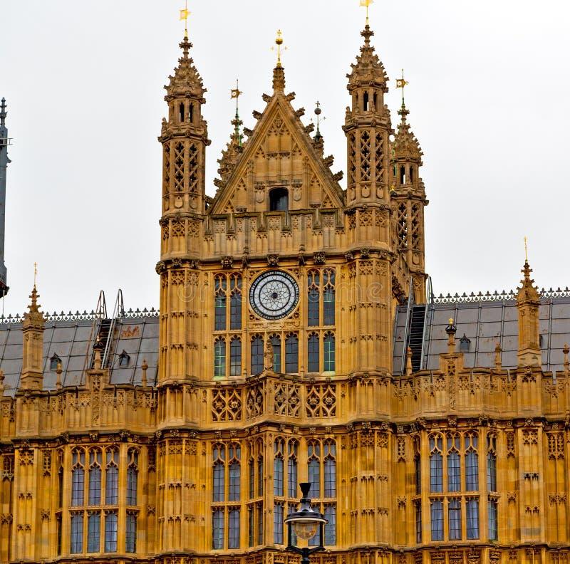 Engeland verouderde stad in Londen de Big Ben en historische oude construc stock fotografie