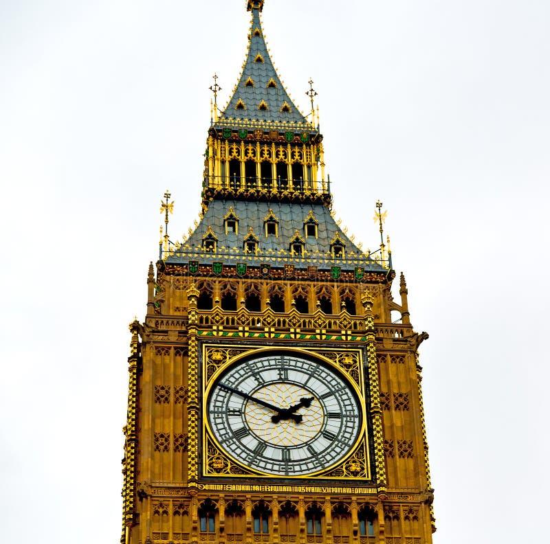 Engeland verouderde stad in Londen de Big Ben en historische oude construc royalty-vrije stock afbeeldingen